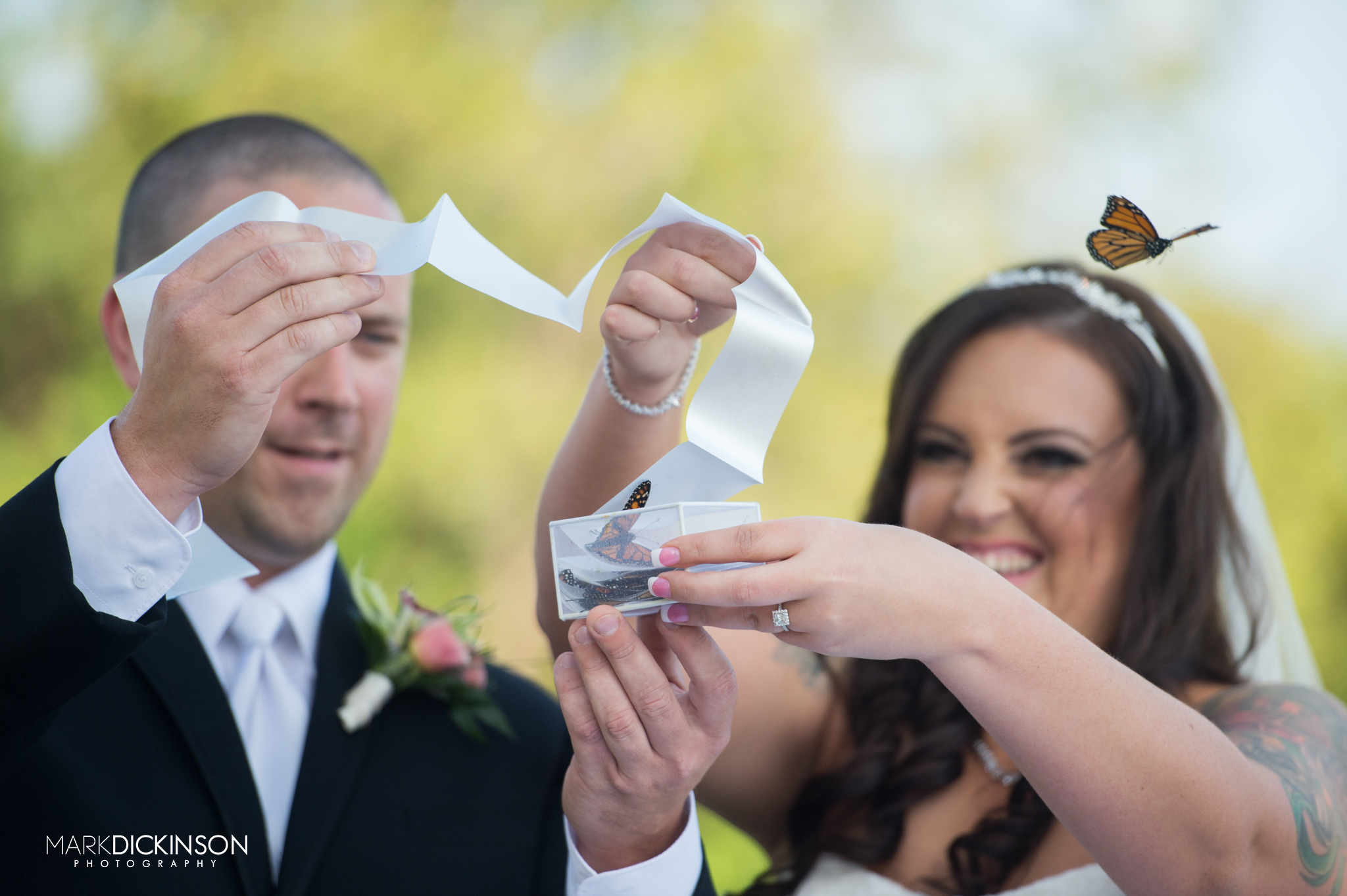 Butterfly send off at wedding
