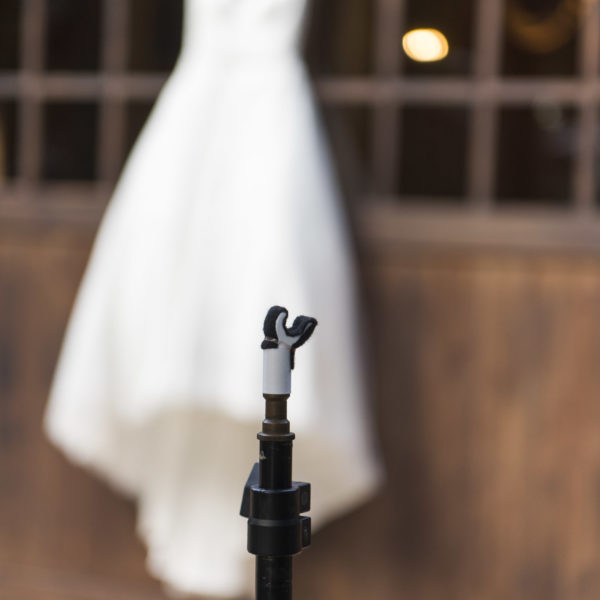 Wedding dress hanger for photographers