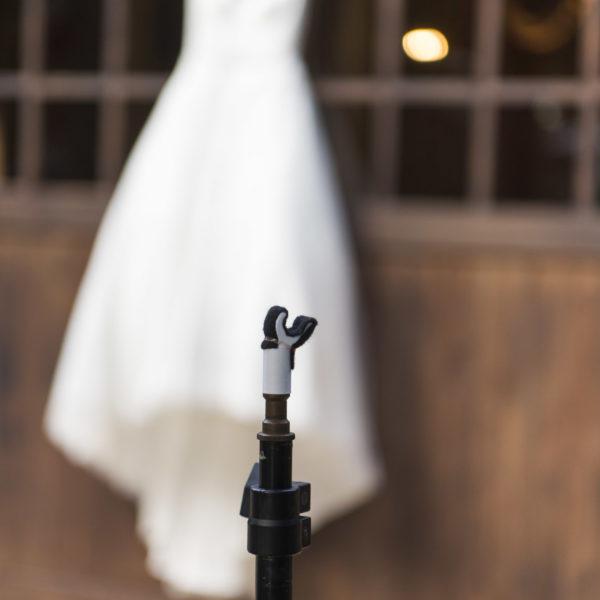 Wedding dress hanger for photographers