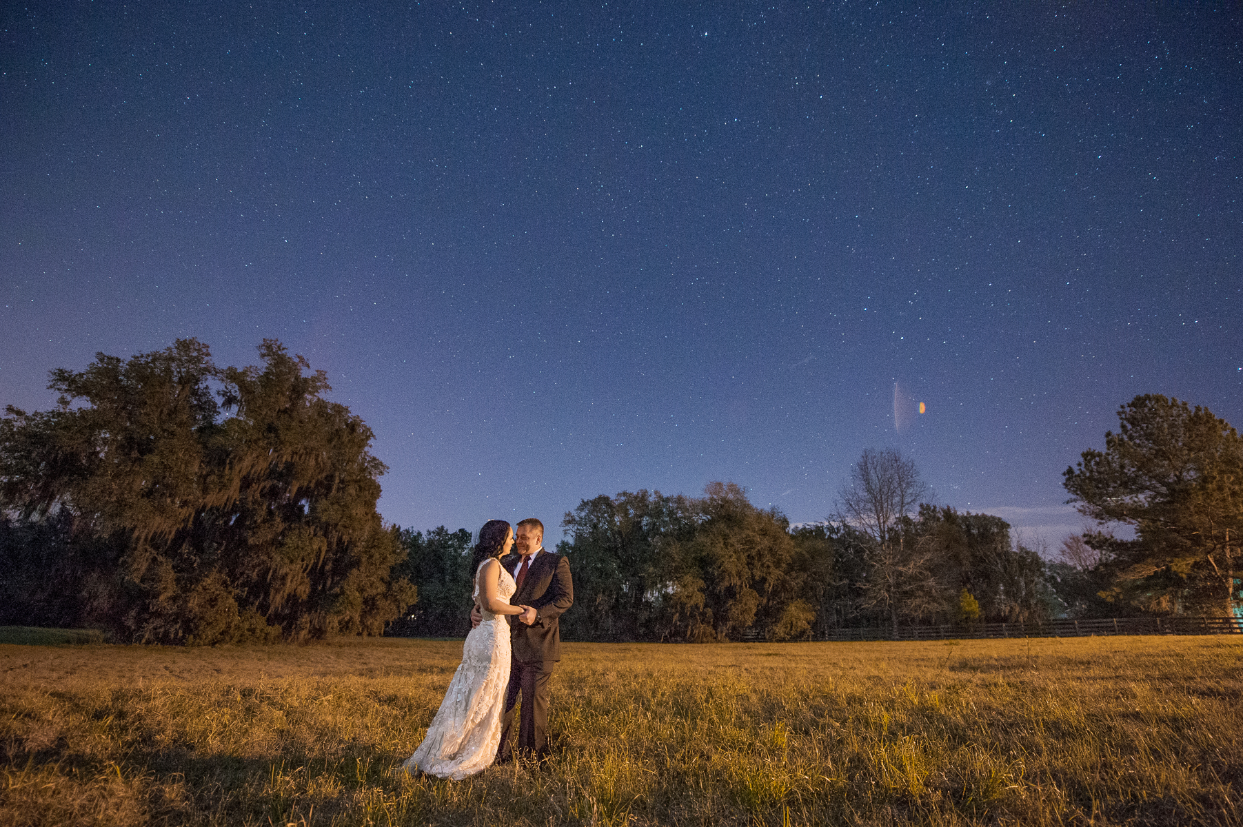 Florida Night Wedding Photographer